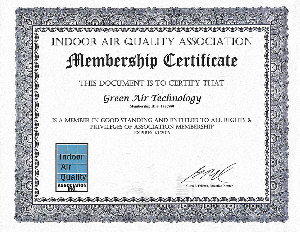certificate-indoor-air-quality